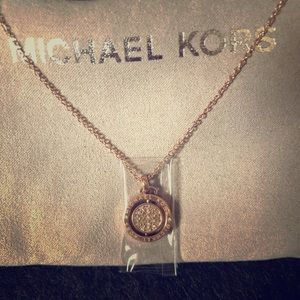 Michael Kors rose gold necklace